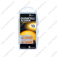 Battery for hearing aid DURACELL 13